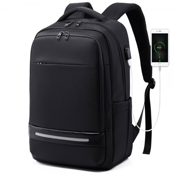 USB Slim Laptop Backpack for Men Water Resistant College Laptop Backpack Office Anti Theft Computer Backpack