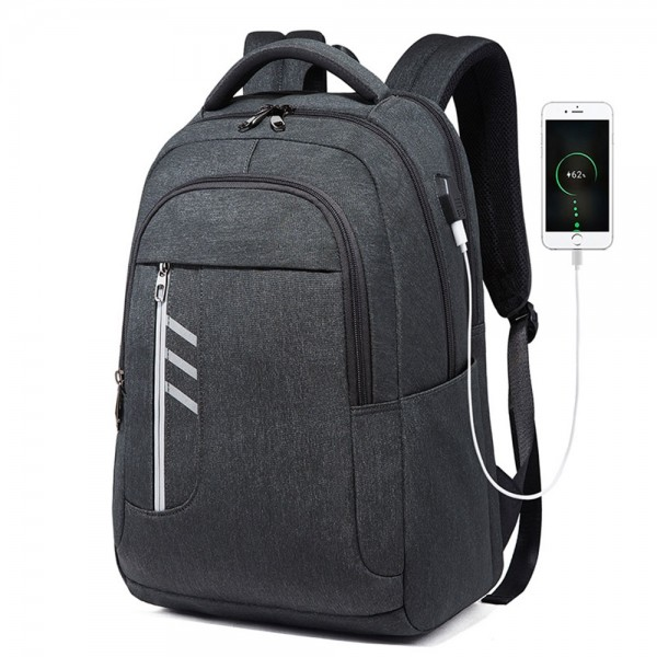 School Laptop Backpack for Men Boys Anti-theft Business Waterproof with USB Charging Port