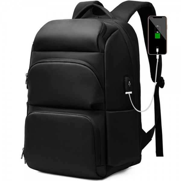 Fashion USB Charger Laptop Backpack for School Boys Men Business Anti-thfet Lightweight Travel Bag