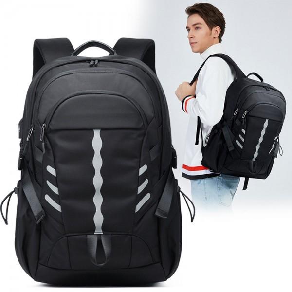 Trendy Nylon Backpack for Men Boy's School Bag Fits 15.6