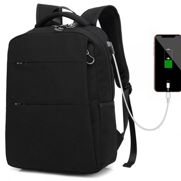 Fashion Backpack for Teens USB Lightweight Schoolbag Fits 15.6 Inches Computer Leisure Daypack