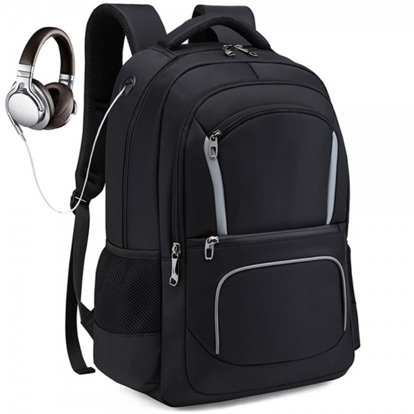 Men's Outdoor Large Capacity Backpack with USB Charging Port Waterproof Commerical Commute Bag Working Bag