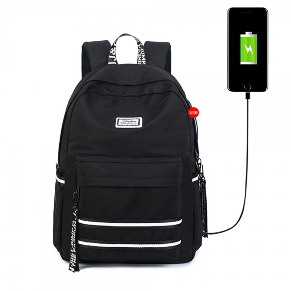 Sporty Lightweight Travel Waterproof Backpack with USB Charging Port