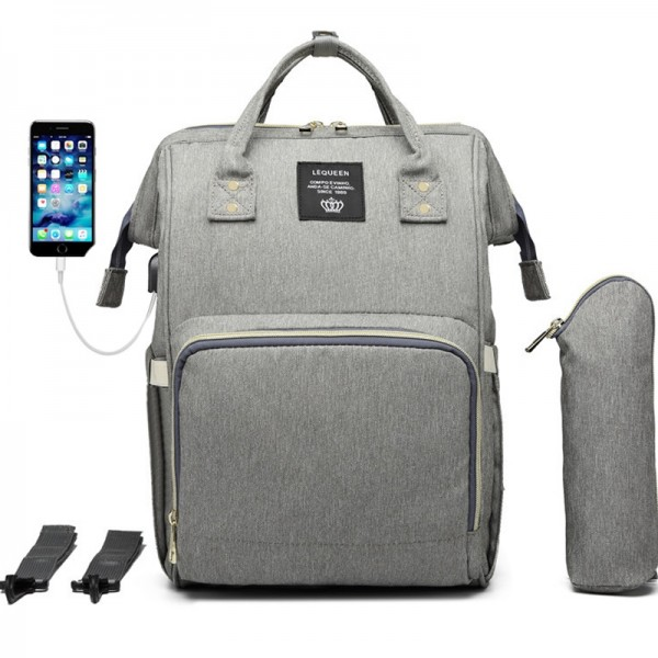 KKbags Unique Diaper Bag Backpack Nappy Maternity Backpack for Mom Daddy with USB Charging Port