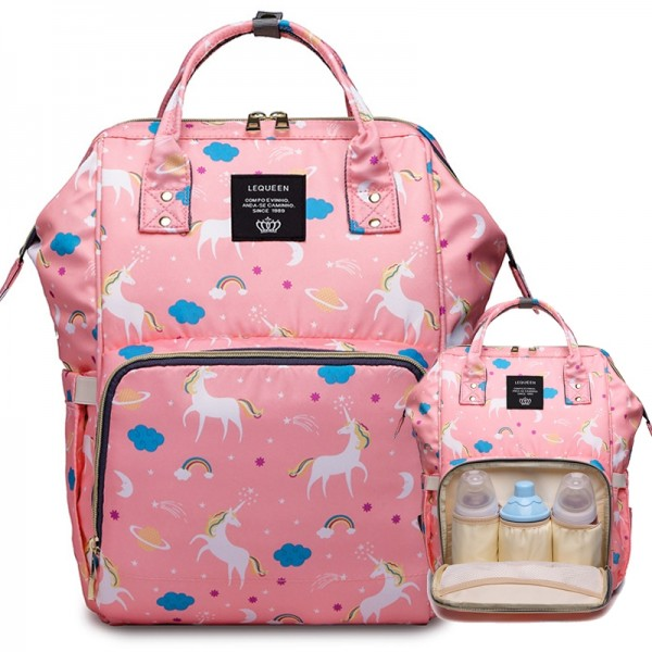 Unicorn Diaper Bag Backpack for Mom Dad Maternity Nappy Bags Large Capacity Baby Care Outdoor Bag