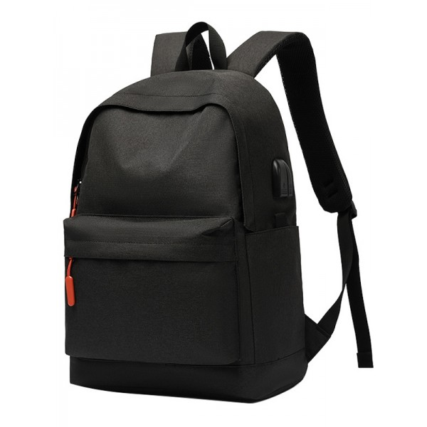 Boys School Backpack Middle School Laptop Bookbags with USB Charging Port Black