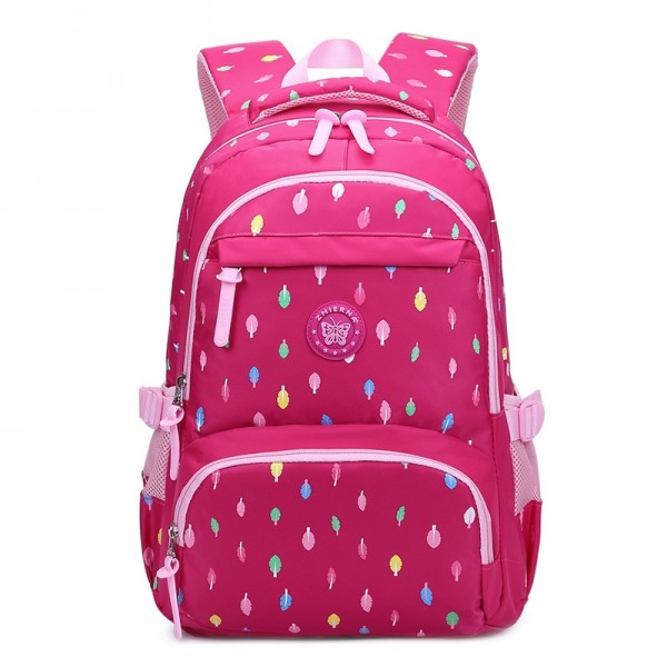 Girls School Backpack Primary Student Book Bags Pink Color