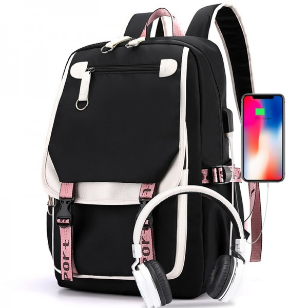 Middle School Backpack For Girls 2021 New Fashion Students Book Bags Daypack