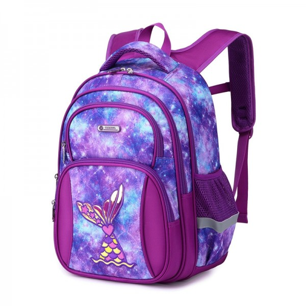 Primary School Backpack for Girls& Boys Mermaid Pattern Top Quality