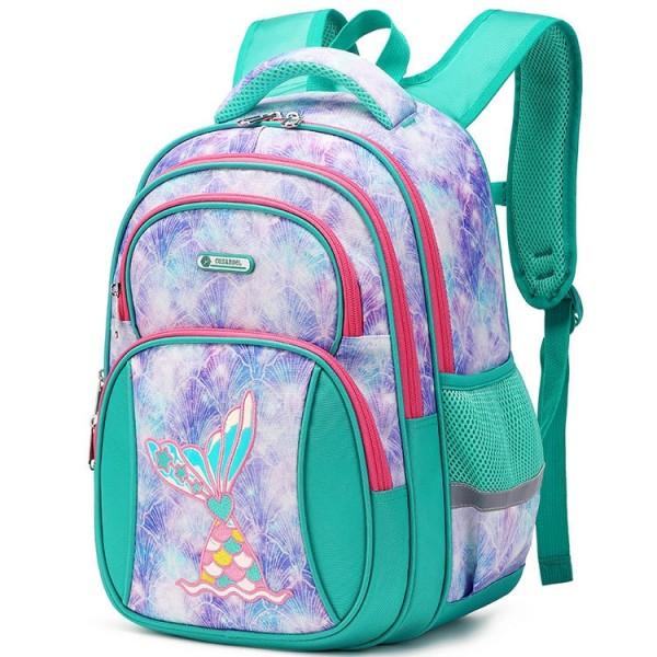 Large Capacity Backpack for Girls School Bookbag Waterproof Kids 1th-6th Grade Backpacks