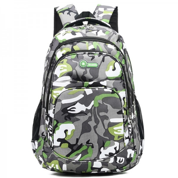 Camouflage School Bag For Boys, Teens Middle/High School Backpack Large Capacity Waterproof Trend Style