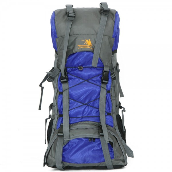 Teens Hiking Backpack 60L Mountaineering Canping Oxford Backpack with Rain Cover