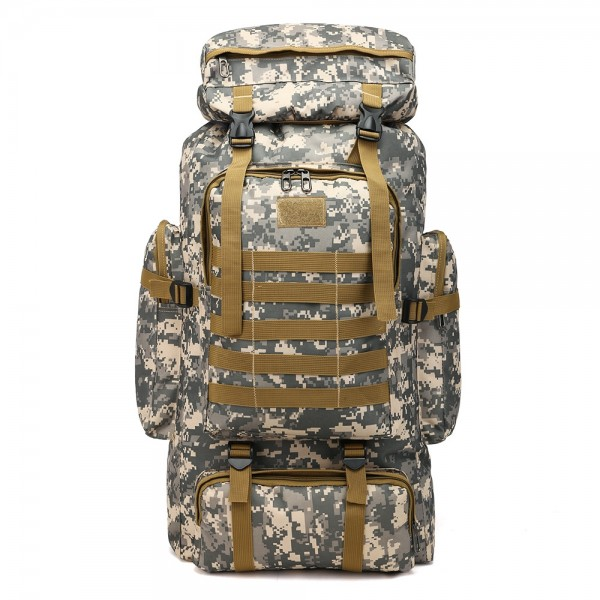 Fashion 80L Camouflage Design Outdoor Camping Hiking Backpack for Men