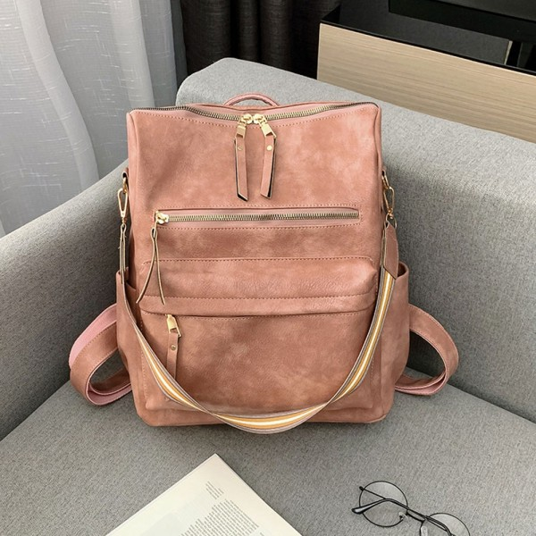 Young Women PU Backpack Fashion 19 Inches Large Capacity  Student Bag