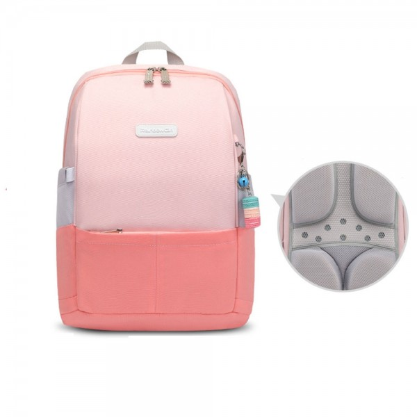 High Quality Elementary School Backpack Candy Color Durable Bookbag Top Level