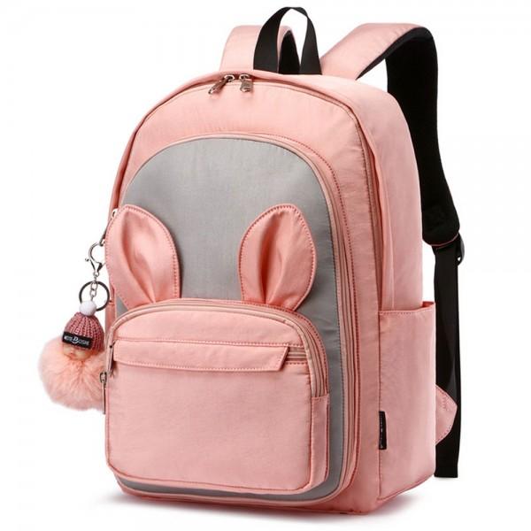 Fashion School Backpack for Teen Girls Cute Rabbit Style Waterproof Lightweight Bookbag