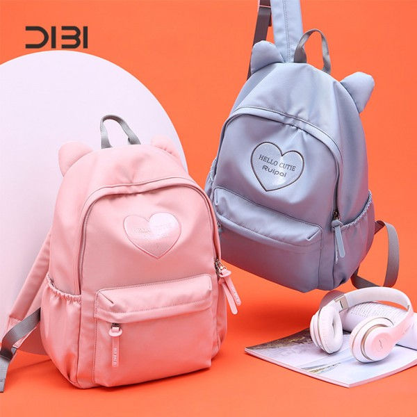 Middle School Leisure Backpack for Girls Oxford Waterproof Bookbag with Computer Compartment
