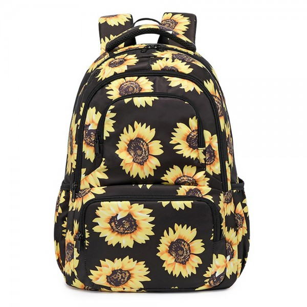 Sunflower Backpack for Middle School Kids Back to School Bookbag with Reflective Stripe
