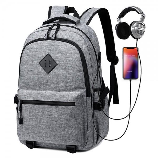 Boys School Backpack with USB Charging Port Commute Laptop Bag for Men XBP21021