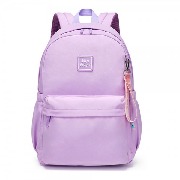 Candy Color Backpack for Middle School Teens Chic Nylon Bookbag Back to School Daypack