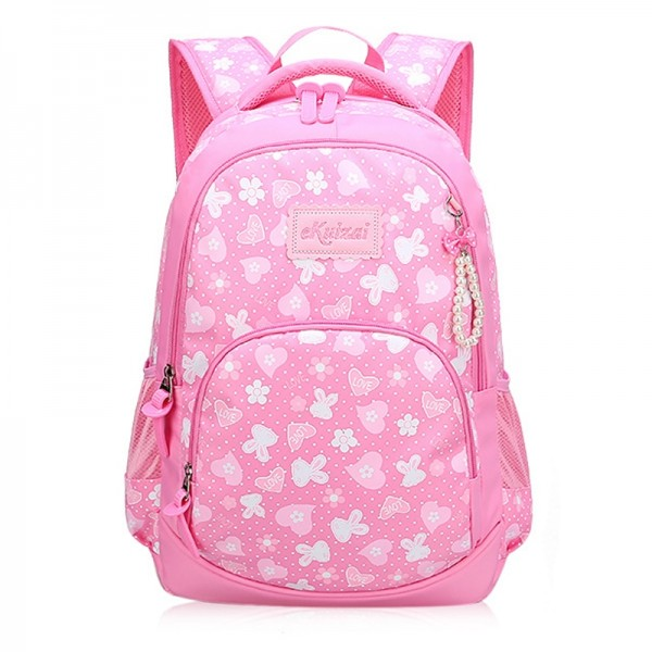 Children's Lovely Hearts&Animals Printed Waterproof Backpack
