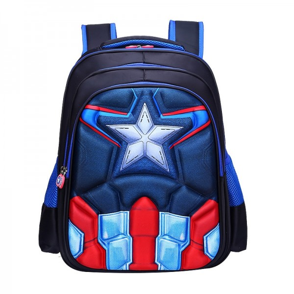 Primary School Backpack Character 3D Boys School Bag Lightweight Waterproof Bookbag