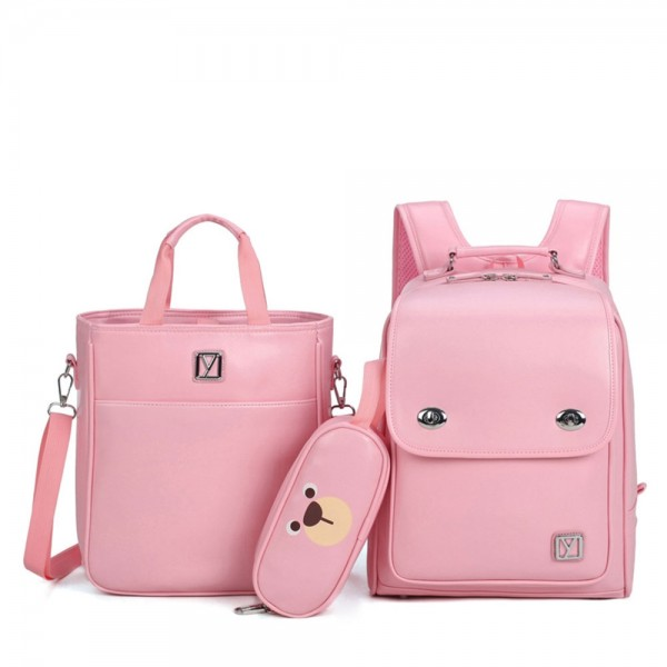 High Quality Girls Backpack Set for Primary School Lightweight Durable Bookbag Lunch Bag & Pencil Case