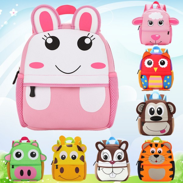 Popular Kinds Of Cartoon Animals Shaped Waterproof Backpack for Toddlers