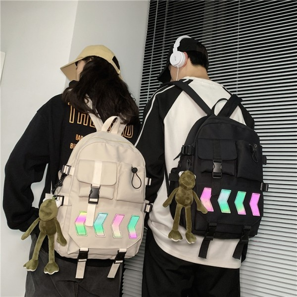 School Backpacks for Teens Cool Style Bookbag Laptop Lightweight Students Bags Top Level with Free Toy