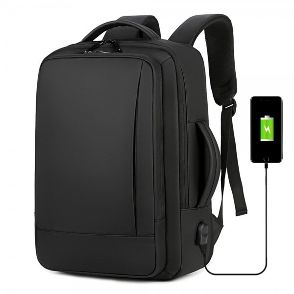 Business Anti Theft Slim Durable Laptop Backpack with USB Charging Port Water Resistant College School Computer Bag for Men