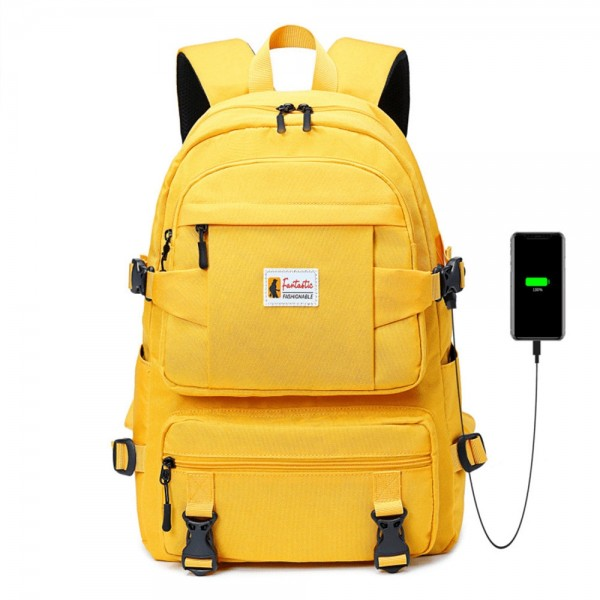 Fashion Back to School Backpack with USB Charging Port Oxford Large Bag Travel Daypack ZBP812030