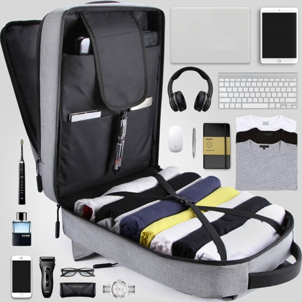 Anti-Theft School Business Travel Laptop Backpack Bag with USB Charging Port for Men