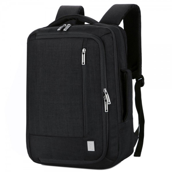 Men High Quality Anti-theft Backpack Nylon Waterproof Slim Commute Travel Bag with Charging Port Fits 14
