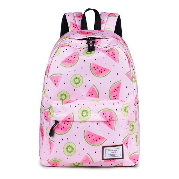 Teen Girls' Cute Fruit Printed Backpack Waterproof Daypack
