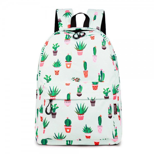 Sweet Lightweight Chic Cactus Printing Backpack for College Girls