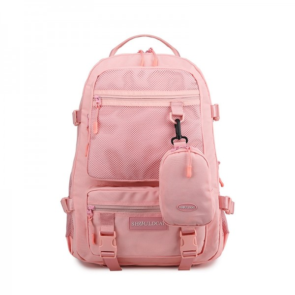 Cute Big Travel Backpack for Teens Multi-Compartment Lightweigt Mesh Backpack with Portable Zippered Bag