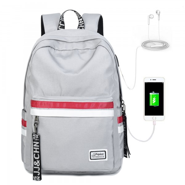 Middle School Bag Backpacks For Teens Lightweight Travel Backpack with USB Charging Port