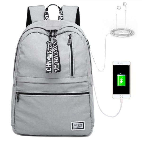 School Backpacks For Teens Book Bags Travel Backpack with USB Charging Port