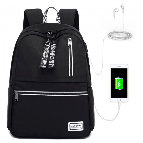 Trendy Upgrade Waterproof Backpack with Built-in USB Charge Port