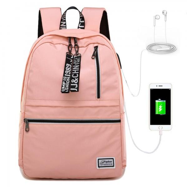 Lightweight Backpack for School Girls Pink Laptop Book Bag