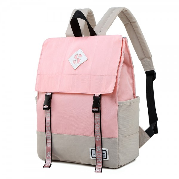 Middle School Students' Fashion Large Capacity Backpack Purse