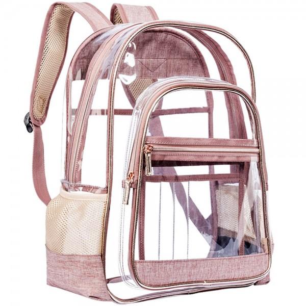 Clear Backpack for School Transparent PVC Bookbag See Through Bag for Women Men Girls Boys Work Travel